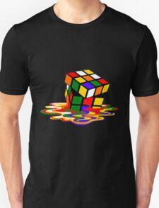 Melted Rubik's Rubix Cube Puzzle T Shirt T-Shirt