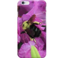 Busy Bee Collecting Pollen On Rhododendron iPhone Case/Skin