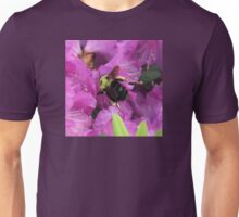 Busy Bee Collecting Pollen On Rhododendron Unisex T-Shirt