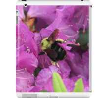 Busy Bee Collecting Pollen On Rhododendron iPad Case/Skin