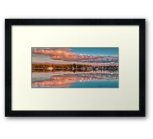Marina Sunset Queensland Australia Framed Print