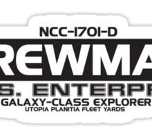 USS Enterprise NNC-1701-D Sticker