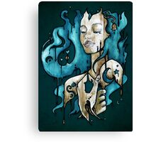 Ink on Wood Canvas Print