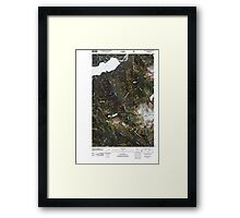 USGS Topo Map Washington State WA Bacon Peak 20110425 TM Framed Print