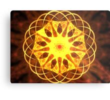 Yellow Matrix Metal Print