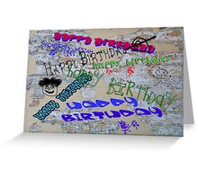 Graffiti Birthday  Greeting Card