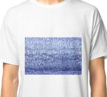 Blue futuristic texture Classic T-Shirt