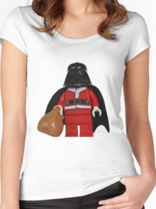 Santa Darth Vader Women's Fitted Scoop T-Shirt