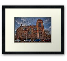 In line for Confession Framed Print