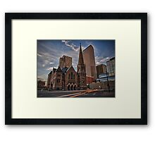 Trinity Methodist surrounded by Denver Framed Print