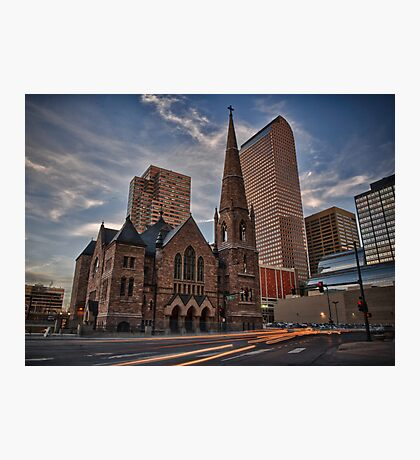 Trinity Methodist surrounded by Denver Photographic Print