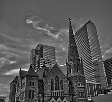 Trinity Methodist Church B/W by anorth7