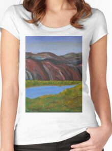 009 Landscape Women's Fitted Scoop T-Shirt