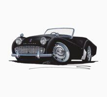 Triumph TR3A Black by Richard Yeomans