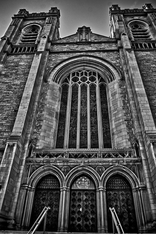St. John's Cathedral B/W by Adam Northam