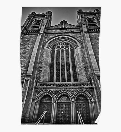 St. John's Cathedral B/W Poster
