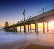 Huntington Beach Pier Sunset by Yhun Suarez