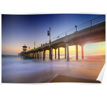 Huntington Beach Pier Sunset Poster