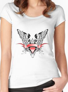 Ribbons Vector Women's Fitted Scoop T-Shirt
