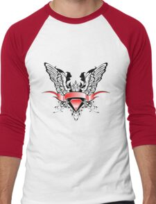 Ribbons Vector Men's Baseball ¾ T-Shirt