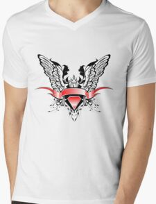 Ribbons Vector Mens V-Neck T-Shirt