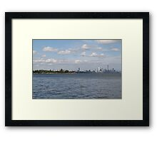"Toronto (The 6) Skyline ""Halves"" Framed Print"