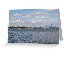 "Toronto (The 6) Skyline ""Halves"" Greeting Card"