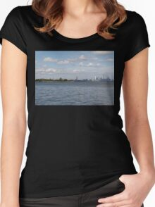 "Toronto (The 6) Skyline ""Halves"" Women's Fitted Scoop T-Shirt"