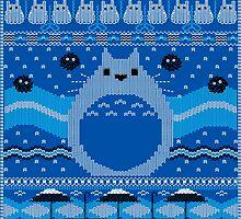 Totoro Knitted Neighbor by juiceboxfarley