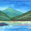 Mountain Lake by David Crowell