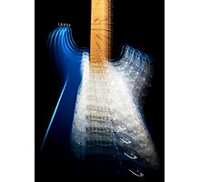 Fender Stratocaster In Blue Sparkle Zoom Photographic Print