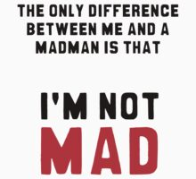 """The only difference between me and a madman is that I'm not mad."" by lrenato"