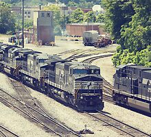 Passing Trains (Version 2) by Greg Booher