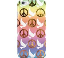 Colourful Peace Sign/Doves Case  iPhone Case/Skin