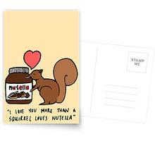 A Squirrel's Nutella Postcards