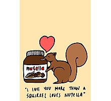 A Squirrel's Nutella Photographic Print