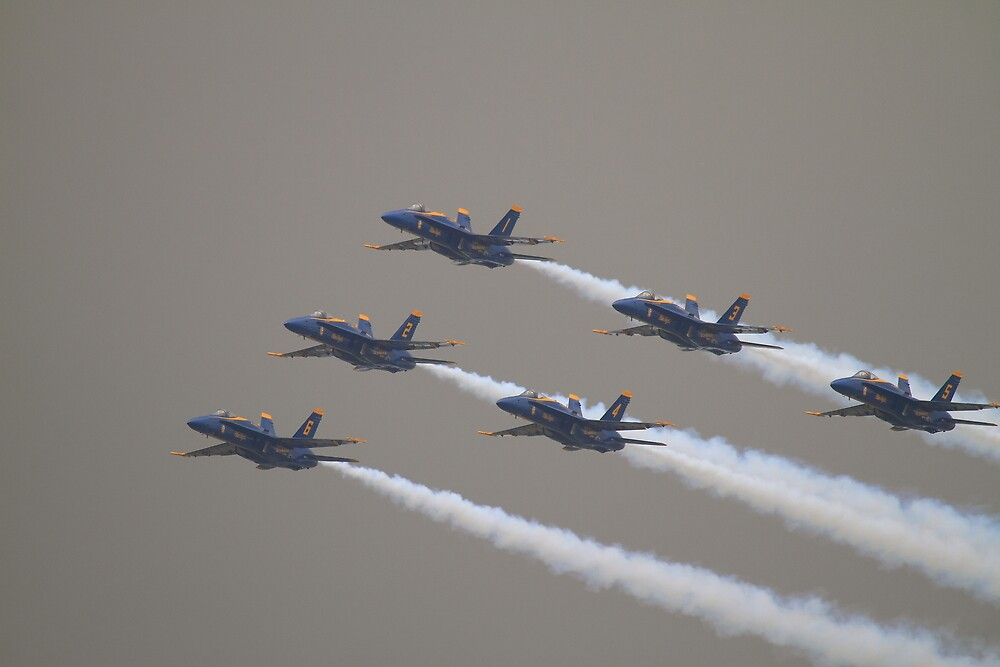 Blue Angels Over The Hudson Rv. by pmarella