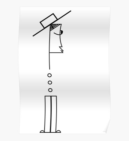 Man with a new hat Poster