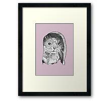 Hamster sketch Framed Print