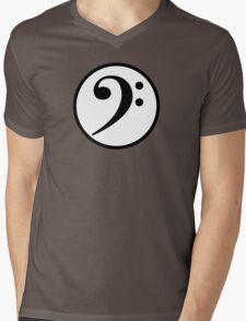 Bass Clef Mens V-Neck T-Shirt