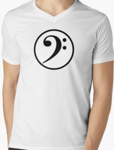 Bass Clef Mens V-Neck T-Shirt