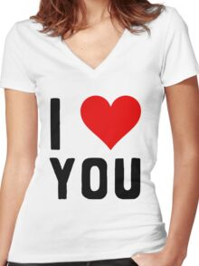 LOVE YOU Women's Fitted V-Neck T-Shirt