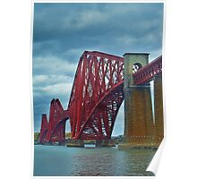 The Rail Bridge, South Queensferry. Poster