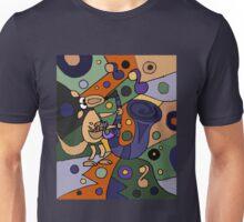 Funny Cool Kangaroo Playing Saxophone Art Unisex T-Shirt