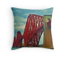 The Rail Bridge, South Queensferry Throw Pillow