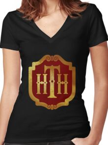 Hotel Tower of Terror  Women's Fitted V-Neck T-Shirt