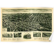 Panoramic Maps Aeroview of Westwood New Jersey 1924 Poster