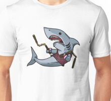 Shark with Nunchucks Unisex T-Shirt