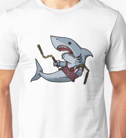 Shark with Nunchucks Unisex T-Shirt