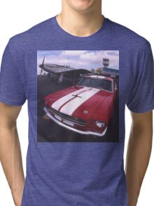 Two Mustangs, Point Cook Airfield, Victoria, Australia Tri-blend T-Shirt